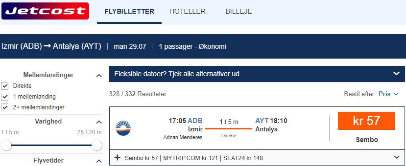 sunexpress uçak bileti indirimi