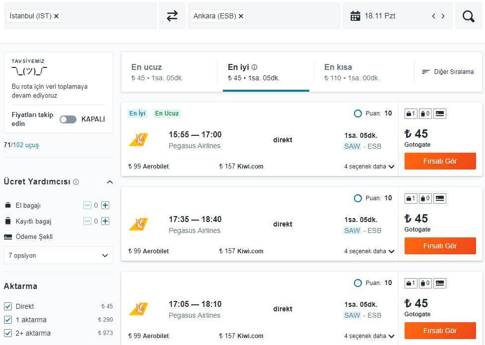 ucuz yurt içi uçak bileti
